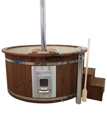 TTinozza hot tubs in legno vasca botte Idromassaggio da esterno con stufa