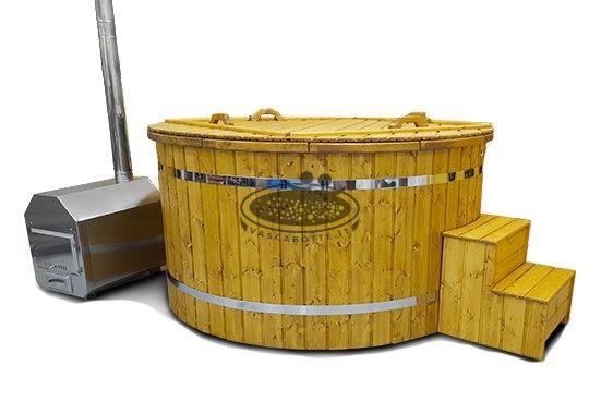 Stufa a legna per riscaldare acqua nelle mini piscina